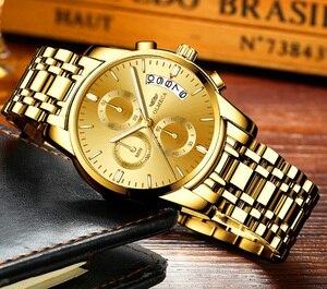 Image 2 - OLMECA męskie zegarki zegarki luksusowe Relogio Masculino 3ATM zegarki wodoodporne zegarek na rękę z kalendarzem dla mężczyzn pasek ze stali nierdzewnej Saat
