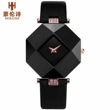 HOLUNS Elegant Watch Women's Wristwatch Ceramic Unique Ladies Watches Dress Rhinestones Fashion Clock relojes de las mujeres - DISCOUNT ITEM  5% OFF All Category