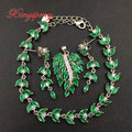 925  silver with 100% natural emerald suits female Fine jewelry, luxurious and beautiful