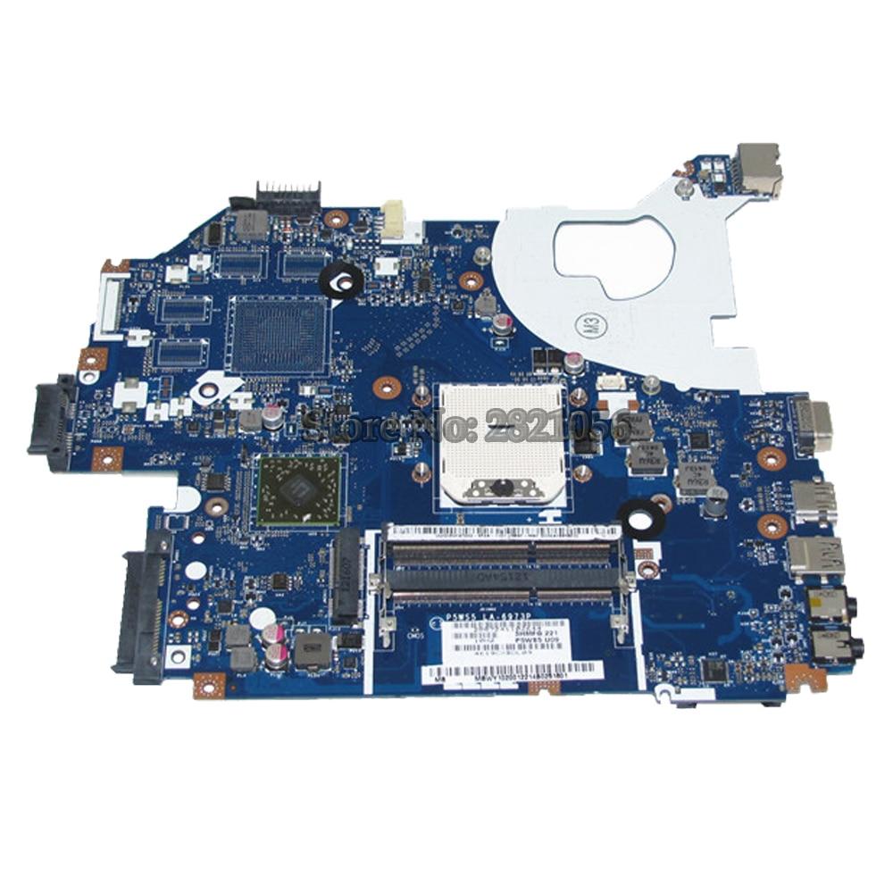 NOKOTION MBWY102001 MB.WY102.001 For Gateway NV55 NV55S NV55S02U Laptop Motherboard P5WS5 LA-6973P Socket fs1 DDR3 nokotion sps v000198120 for toshiba satellite a500 a505 motherboard intel gm45 ddr2 6050a2323101 mb a01