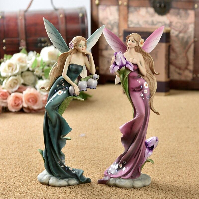 Европейском стиле Смола украшения дома Эстетическая мода высокого класса творческая гостиная фигурка Ангела украшения свадебные подарки