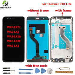 for Huawei P10 Lite LCD Display+Touch Screen+frame Tools Glass Panel Digitizer replacement For Huawei P10 Lite WAS-LX2J WAS-LX2