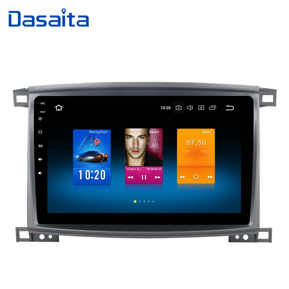 1 din Autoradio GPS Android 8.0 pour Toyota LC 100 Land Cruiser 100 2003 avec 10.2 IPS Tactile écran 4g LTE