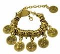 Bohemian Moon Child Turkish Silver/gold Antalya Slave Bracelet Moon Lovers Gypsy Beachy Chic Coins Bracelets For Women Jewelry