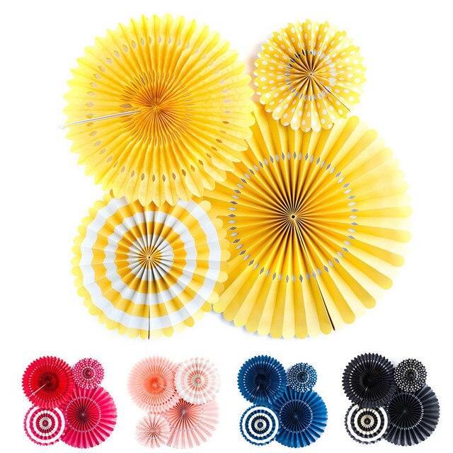High End Handcraft Round Paper Fan Honeycomb Fan Umbrella Flower