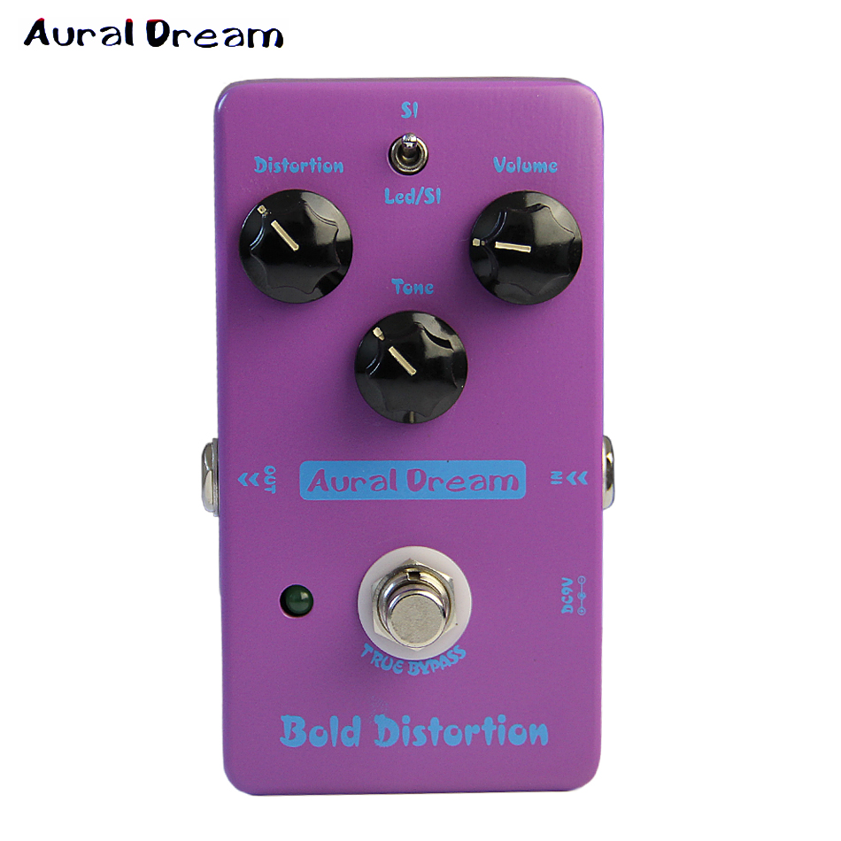 Aural Dream True Bypass Bold Distortion Electric Guitar Effect Pedal with Massive Distortion and Plump Tone DISCOUNTING social distortion social distortion somewhere between heaven and hell lp
