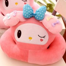 Gift for baby 1pc 36cm cartoon my melody blink bowknot plush hold rest office pillow cushion novelty creative stuffed toy