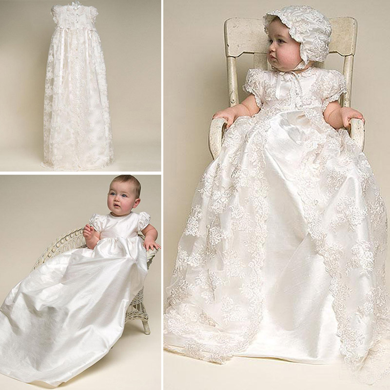 c827de235 Baby girl christening gown Baptism Dress 1 year girl baby birthday Dress  anniversaire first birthday girl party Lace 2 ...