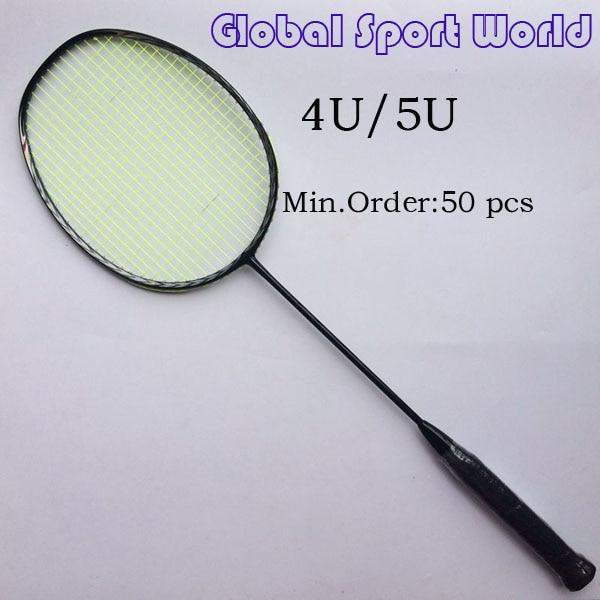 50 pcs Free shipping OEM 3D Blade N80 Frame badminton racquet racket 4U/5U