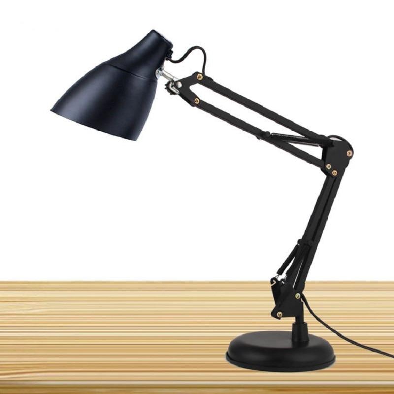 ФОТО Led Table Lamp Iron Morden American Foldable Long Arm Desk Reading E27 110V 220V Clip Office  Study IY106139