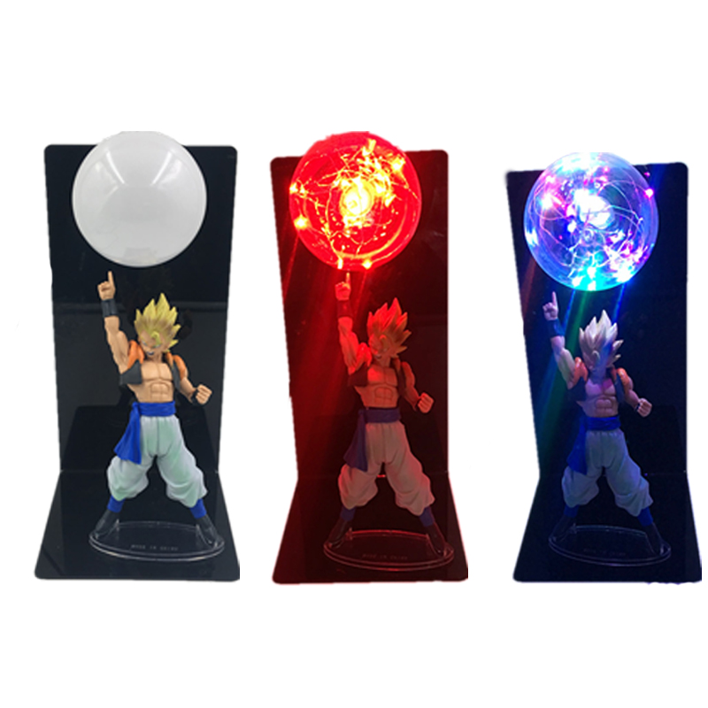 Dragon Ball Z Vegeta Son Goku Super Saiyan Led Novelty Lighting Lamp Bulb Anime Toy DBZ Nightlight