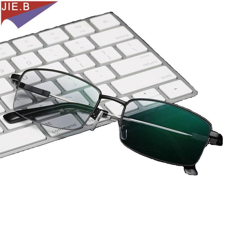 2018 New Quality Photochromic Presbyopia Women Men's Glasses Fashion Square half Rim Classic Reading Glasses