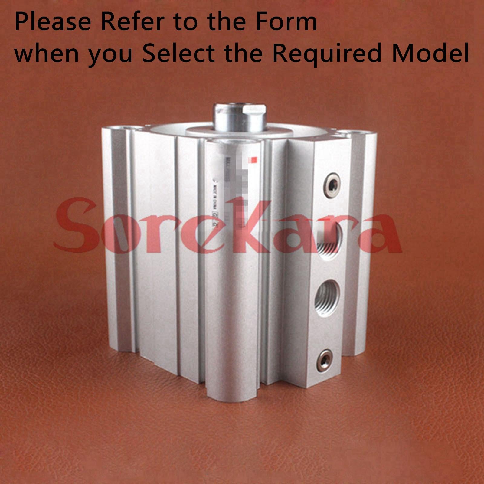 RQB20-15 RQB20-20 RQB20-25 RQB20-30 RQB20-40 RQB20-50 RQB25-15 Compact Air Cylinder with Air Cushion Through-hole (Standard)
