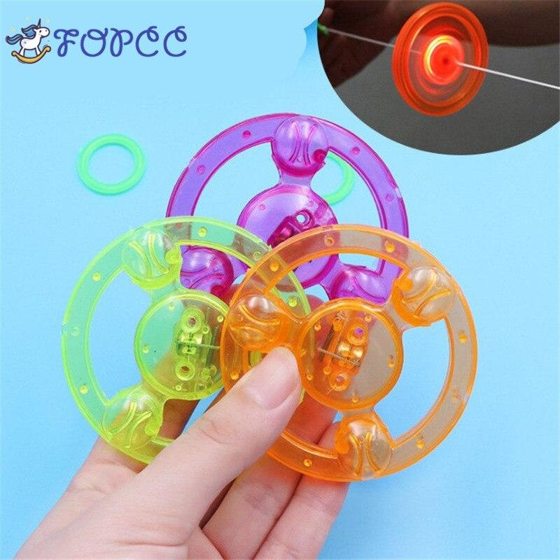 1 StÜcke Kinder Kunststoff Leucht Schwungrad Led-blitz Zuglinie Gyroskop Whistle Toy Jungen Mädchen Originalität Lustiges Geschenk Modernes Design