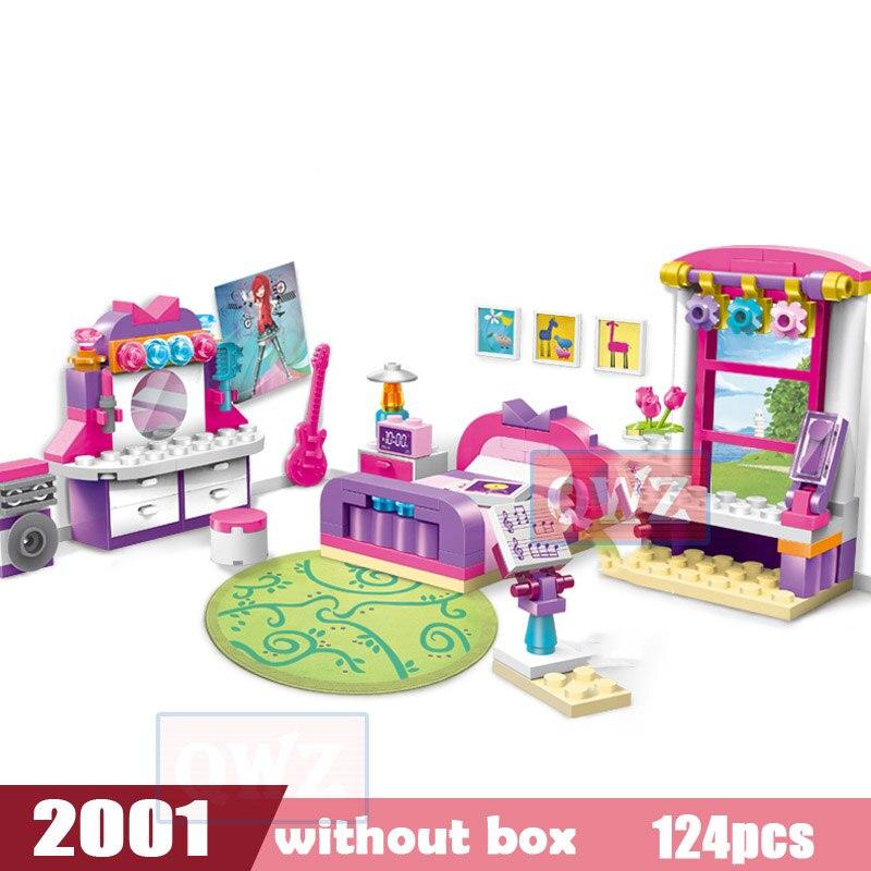 Legoes город девушка друзья большой сад вилла модель строительные блоки кирпич техника Playmobil игрушки для детей Подарки - Цвет: 2001 without box