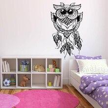 YOYOYU Owl Vinyl Wall Sticker For Kids Dreamcatcher Dreams Room Remove Decal Bedroom Nursery Home Decoration Art Poster ZX456