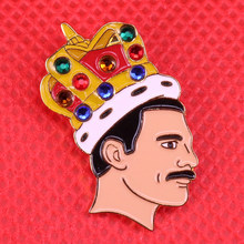 Freddie Mercury Queen Spille LGBTQ Distintivo Brian May Spilla Bohemian Rhapsody artista regalo(China)