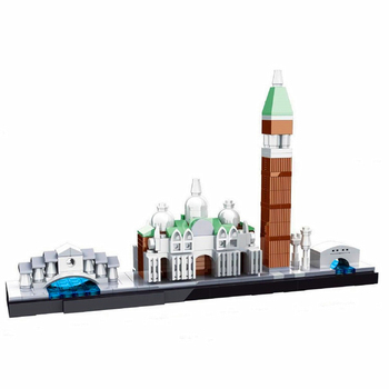 Hsanhe Architecture Venice Skyline Collection Gift Building Blocks Sets City Bricks Classic Model Kids Toys Compatible Legoings 21035 lego