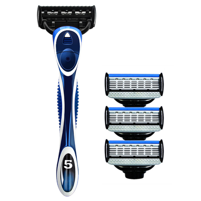 Quality Professional Stainless Steel Razor Blade Shaver Razors Men's Shaving 5-layer Cassettes Facial Care Replaceable