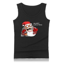 Hot Sale Merry Christmas Santa Claus Summer Muscle Tank Tops for Men Sleeveless Vests and Strong Man Clothing Plus Size