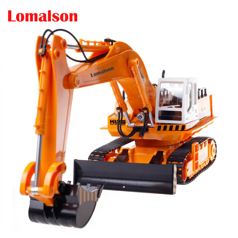 11CH RC Excavator Toys 2.4G Remote Control Engineering Truck Digger Truck Model Electronic Excavator Heavy Machinery Toy huina 1510 rc excavator car 2 4g 11ch metal remote control engineering digger truck model electronic heavy machinery toy