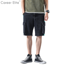 Summer Outdoors Five-Foot Trousers Casual Pocket Mens Shorts Casual Cotton Slim Masculina Beach Short Men Classic Ropa Hombre