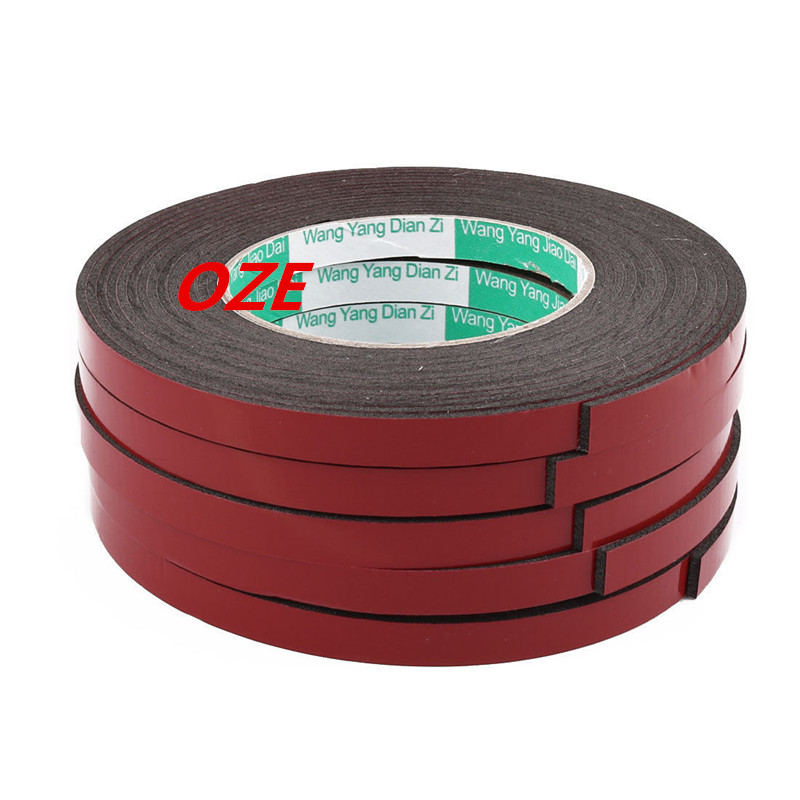5Pcs 10 x 2mm Double Sided Sponge Tape Adhesive Sticker Shockproof Tape 5 Meters 2pcs 2 5x 1cm single sided self adhesive shockproof sponge foam tape 2m length