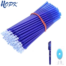 цена на 20Pcs/lot Erasable Rod Pen Refill 0.5mm Blue/Black/Red Ink Refills Set Gel Pen for School Office Writing Supplies Stationery