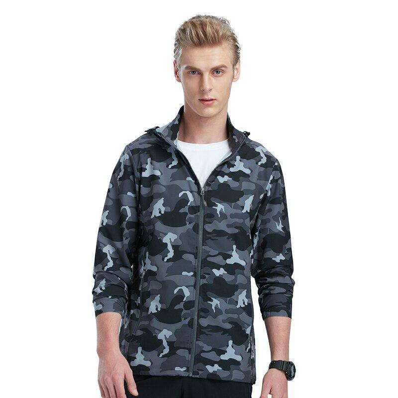 Tectop printemps été hommes protection solaire respirant mince vestes hommes Sports de plein air élastique résistant à l'usure randonnée manteaux S-XXXL