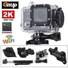 Gitup Git2P WiFi 2K 1080P Full HD Professional Helmet Sports Action Dash Camera Video 1.5″ LCD Screen Waterproof+8pcs Parts