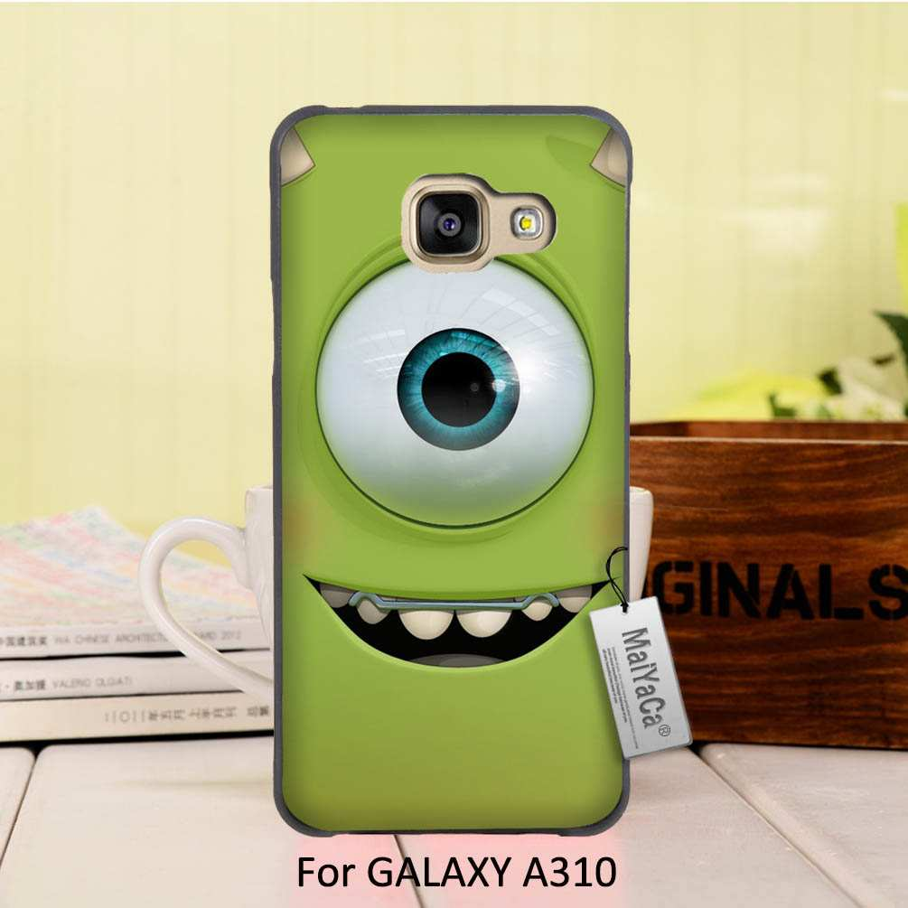 MaiYaCa On Sale Luxury Cool Black Phone Accessories For Samsung Galaxy A3 2016 case Funny Green Popeyes