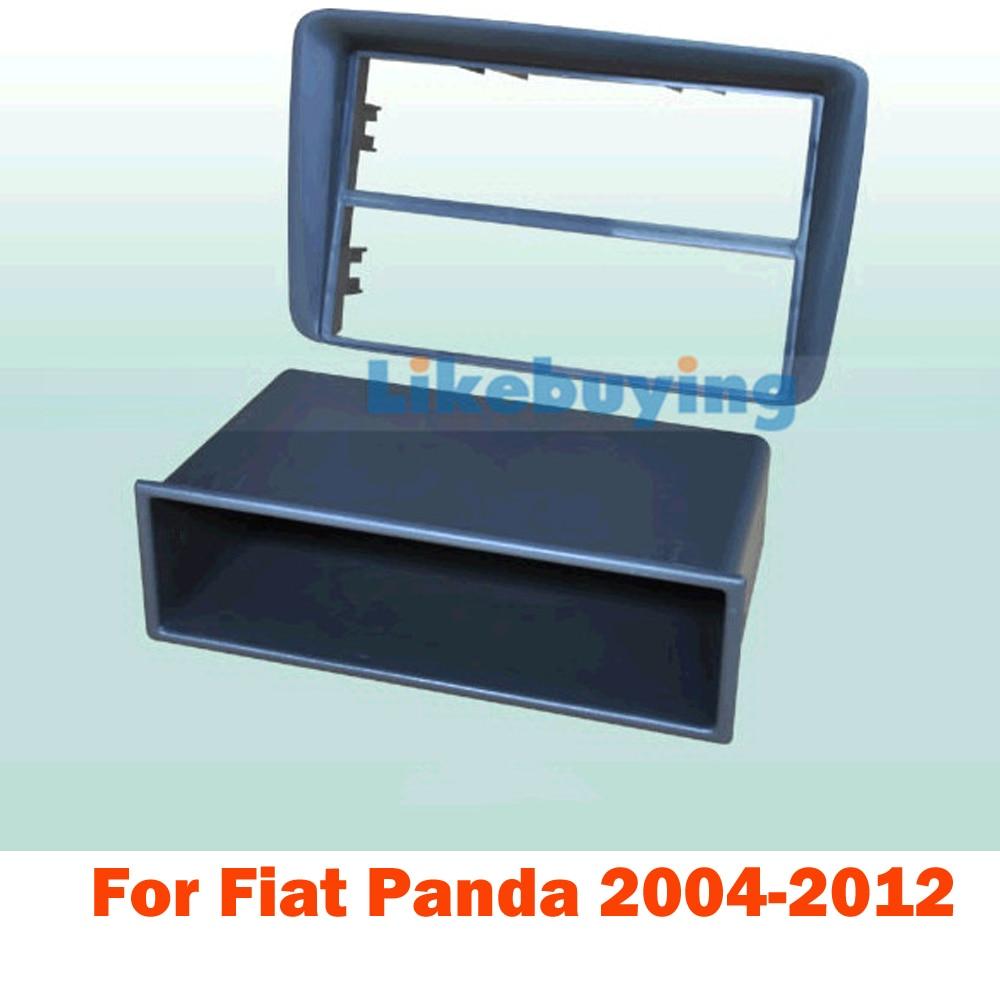 1 Din Car frame kit / Car Fascia Panel / Audio Panel Frame / Car Dash Kit For Fiat Panda 2004 -2012 Retail/Pcs Free Shipping 1 din car fascia panel frame car dash frame kit audio panel frame for mazda 3 2004 2005 2006 2007 2008 2009 free shipping