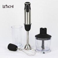 LSTACHi ручной блендер 4 в 1 портативный Погружной блендер для кухонный комбайн stick с измельчитель взбейте электрическая соковыжималка, миксер