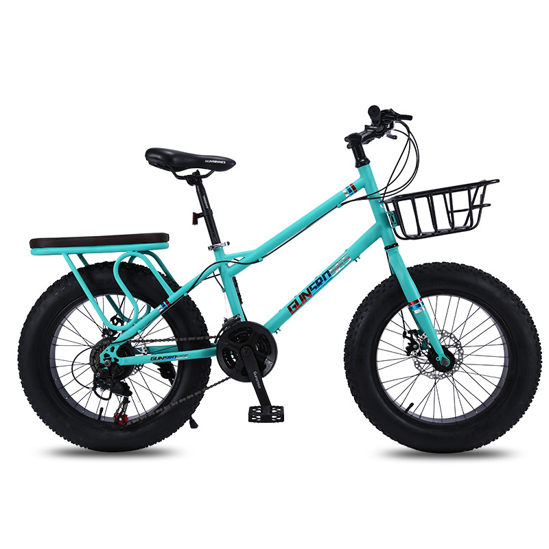 20inch Fat Tyre Bicycle 7-speed Mountain Bike Shock-absorbing Wide Tyre Bicycle 4.0 Extra Large Tire Variable Speed Snow Bicycle