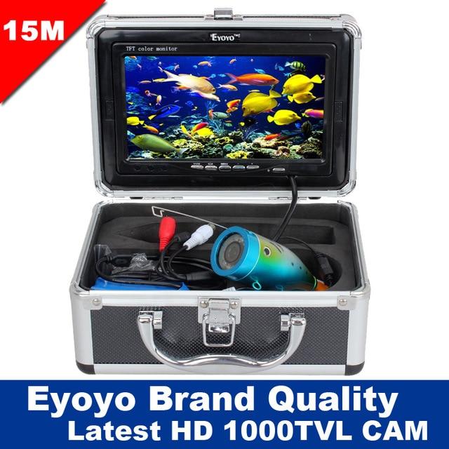Free Shipping!Eyoyo Original 15M Underwater Professional Fish Finder Fishing 1000TVL Cam 7
