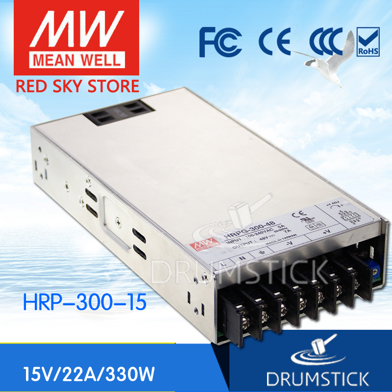 MEAN WELL HRP-300-15 15V 22A meanwell HRP-300 15V 330W Single Output with PFC Function Power Supply [mean well1] original epp 150 15 15v 6 7a meanwell epp 150 15v 100 5w single output with pfc function
