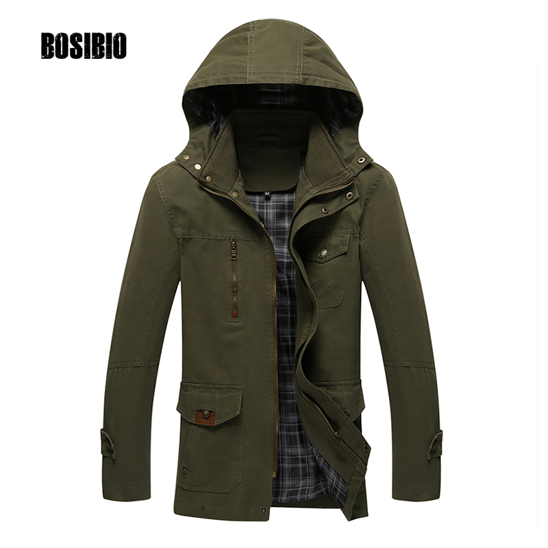 Men Casual Army Green Cotton Jacket With Hat Detachable 2017 Autumn Slim Fit Male Thin Hooded Coat Wholesale Big size 4XL 8803-1 women thin parka spring autumn plus size 3xl 4xl red black femlae warmer winter cotton jacket slim fit fashion thin parkas a3444