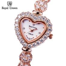 Luxury Crystal Jewelry Lady Women's Watch Fashion Heart Hour