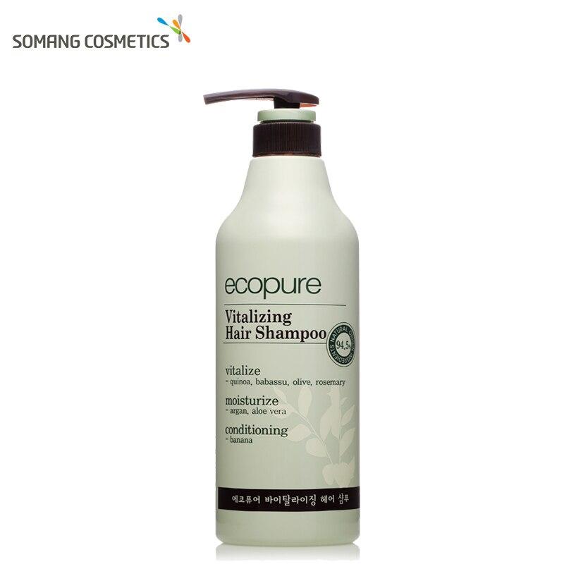 Somang 700ml Korean Ecopure Vitalizing Hair Shampoo Oil Control Anti Dandruff Itching Cleansing Professional Hair