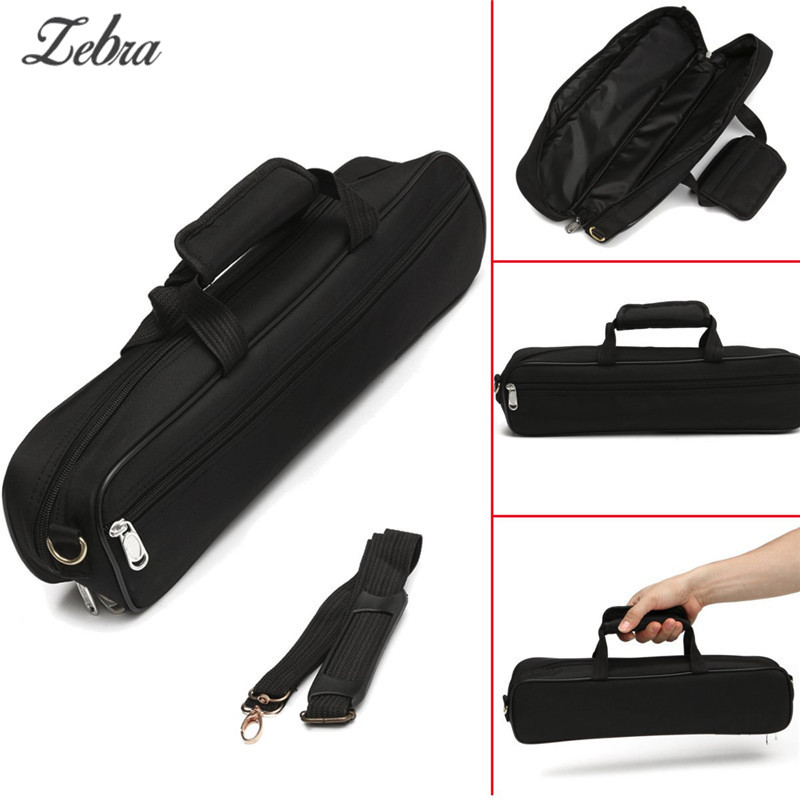 Zebra Flute Carrying Handbag Box Case With Side Pocket Adjustable Shoulder Strap Portable Woodwind Instruments AccessoriesZebra Flute Carrying Handbag Box Case With Side Pocket Adjustable Shoulder Strap Portable Woodwind Instruments Accessories