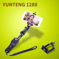 Yunteng 1288 Bluetooth Wireless Handheld Selfie Stick Extendable Holder Selfie Stick For Iphone Xiaomi Yi Gopro