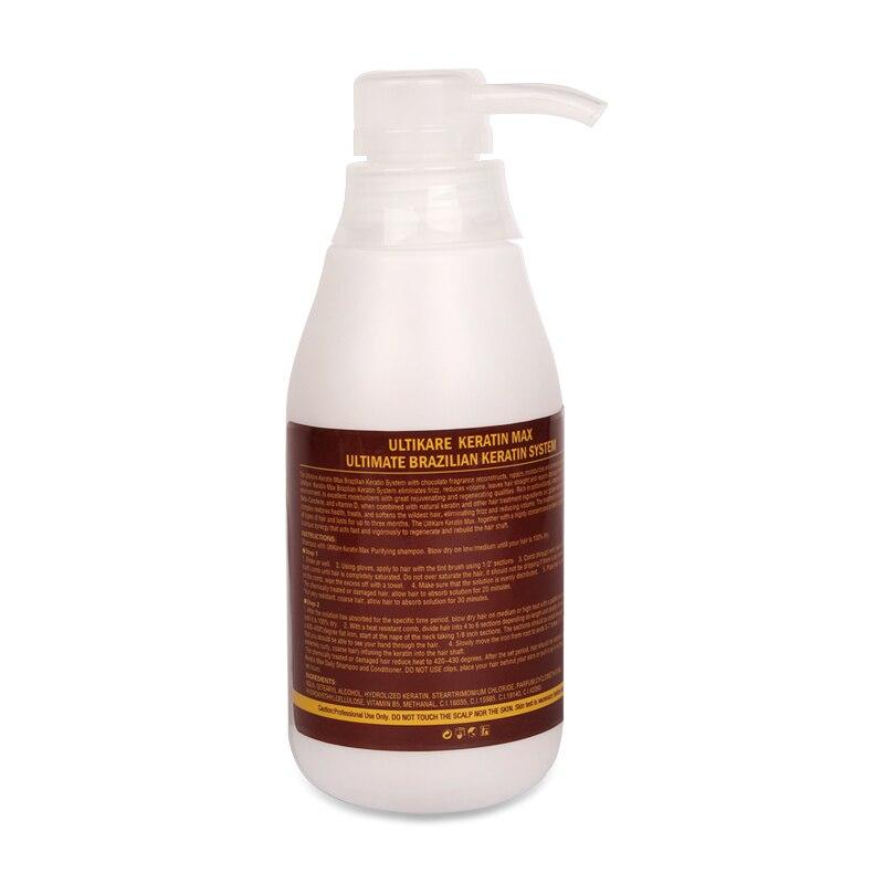 2pcs 300ml Chololate Ultikare Brazilian 8% Formaldehyde Keratin Straight Hair Treatment For Strong Hair +10ml Argan Oil Set