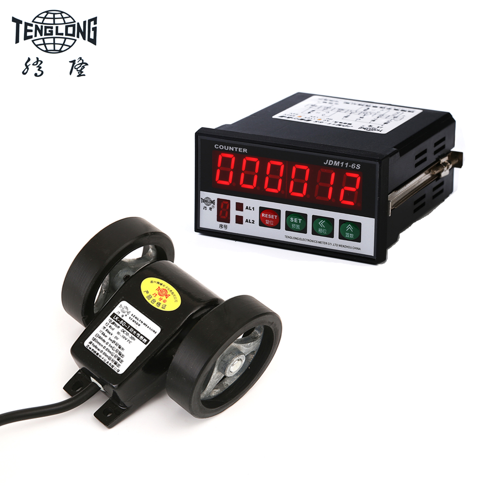 Digital Length Meter Counter Length Measuring meter Wheel with Control Function Accuracy in 1 Millimeter lk 90s length counter meter digital length gauge wheel type length encoder with accuracy 0 1m