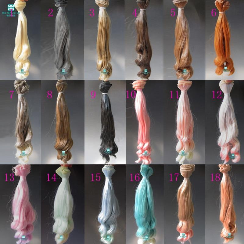 1pcs 20cm * 100cm Keriting gelombang besar Aksesori boneka wig / rambut Untuk 1/3 1/4 1/6 BJD / SD doll