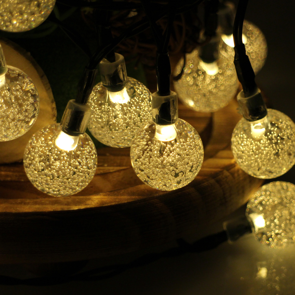 Decorative Outdoor Lighting: 30LED 6M Waterproof Decorative Crystal Ball LED String