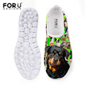 FORUDESIGNS Fashion Summer Women Shoes Printing Rottweiler Dog Mesh Shoes for Women Breathable Female Walking Shoes Plus Size