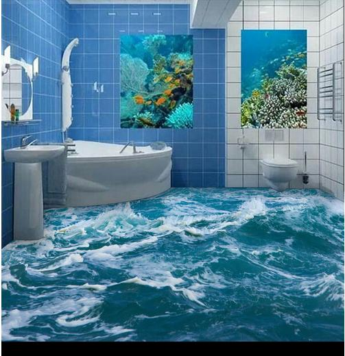 Wholesale 3d wall murals sea spray mural TV background 3d wall photo