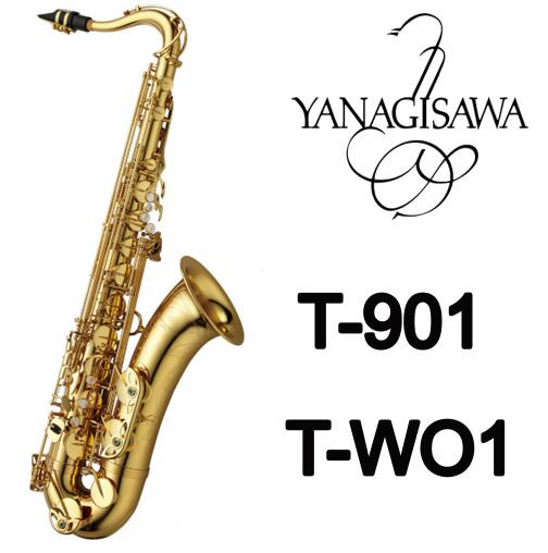 Brand Performance instruments YANAGISAWA T-901 T-WO1 Bb Tenor Pearl Button Saxophone Gold Lacquer Brass B Flat Sax With Case 2018 japan yanagisawa new tenor saxophone t 992 b flat tenor saxophone gold key yanagisawa sax with accessories professionally