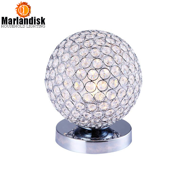 Modern Crystal Table Lamps For Bedroom Living Room Study Office Modern Crystal Silver Golden Desk Lamp Free Shipping TL 53 in LED Table Lamps from Lights Lighting