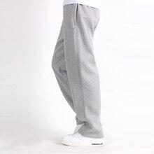 Мужские брюки размера плюс 6XL, одноцветные Мешковатые Свободные эластичные штаны, хлопковые спортивные штаны, повседневные штаны, брюки большого размера плюс 5XL 6XL 7XL